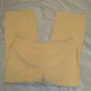 Talbots classic side zip khaki pants